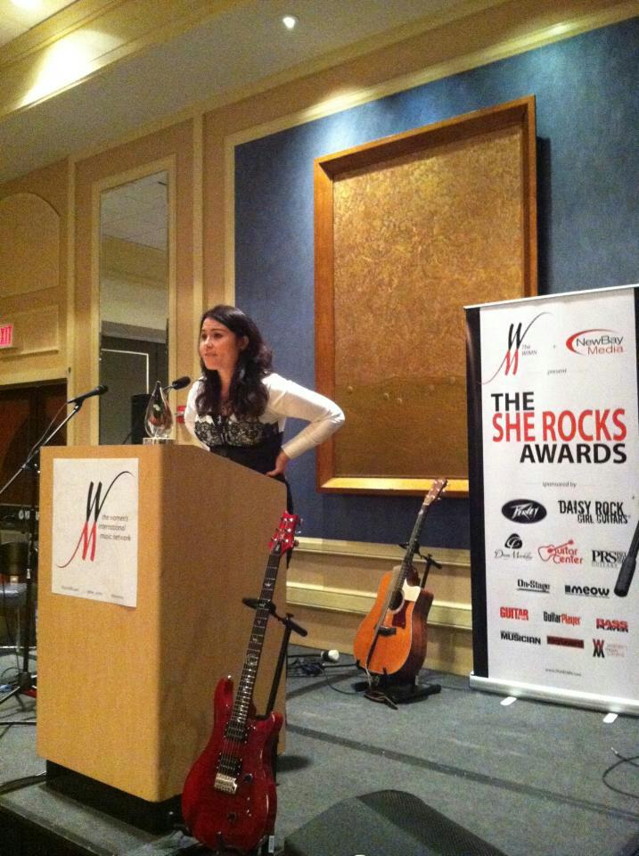 Accepting my She Rocks Award